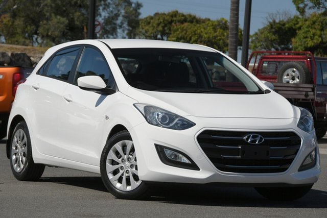 Used Hyundai i30 GD4 Series II MY17 Active North Lakes, 2016 Hyundai i30 GD4 Series II MY17 Active White 6 Speed Sports Automatic Hatchback