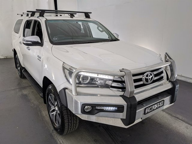 Used Toyota Hilux GUN126R SR5 Double Cab Maryville, 2017 Toyota Hilux GUN126R SR5 Double Cab White 6 Speed Sports Automatic Utility