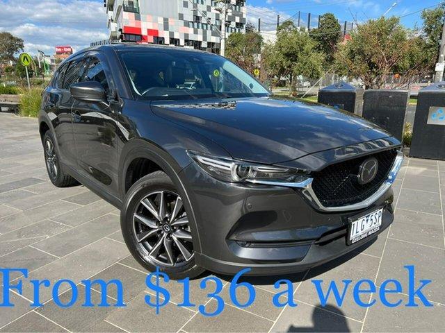 Used Mazda CX-5 KE1032 Akera SKYACTIV-Drive i-ACTIV AWD South Melbourne, 2017 Mazda CX-5 KE1032 Akera SKYACTIV-Drive i-ACTIV AWD Grey 6 Speed Sports Automatic Wagon