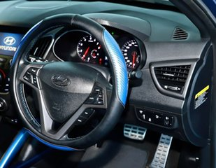 2016 Hyundai Veloster FS4 Series II SR Coupe D-CT Turbo Blue 7 Speed Sports Automatic Dual Clutch