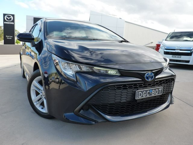 Pre-Owned Toyota Corolla ZWE211R Ascent Sport E-CVT Hybrid Blacktown, 2019 Toyota Corolla ZWE211R Ascent Sport E-CVT Hybrid Black 10 Speed Constant Variable Hatchback