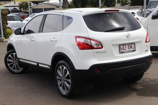 2011 Nissan Dualis J10 Series II MY2010 Ti Hatch X-tronic White 6 Speed Constant Variable Hatchback.