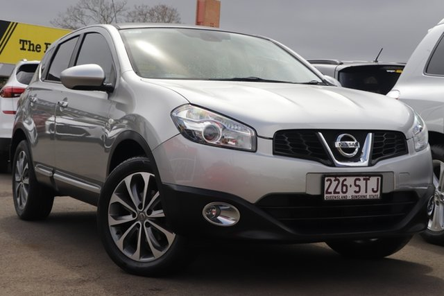 Used Nissan Dualis J10W Series 3 MY12 Ti-L X-tronic AWD Toowoomba, 2012 Nissan Dualis J10W Series 3 MY12 Ti-L X-tronic AWD Silver 6 Speed Constant Variable Hatchback