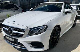 2017 Mercedes-Benz E-Class A238 E300 9G-Tronic PLUS Polar White 9 Speed Sports Automatic Cabriolet.