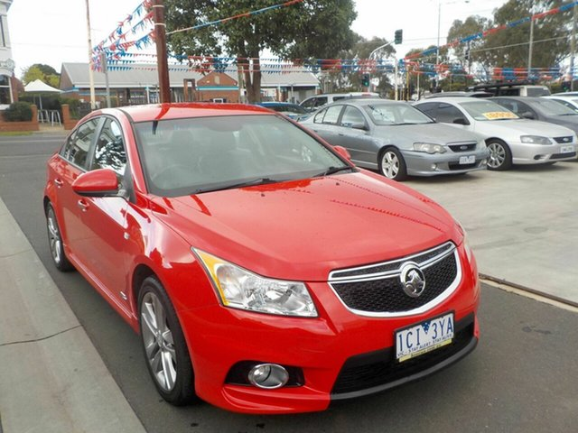Used Holden Cruze JH MY14 SRI Z-Series Newtown, 2014 Holden Cruze JH MY14 SRI Z-Series Red 6 Speed Automatic Sedan