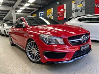 2014 Mercedes-Benz CLA-Class C117 CLA45 AMG Red Sports Automatic Dual Clutch Coupe.