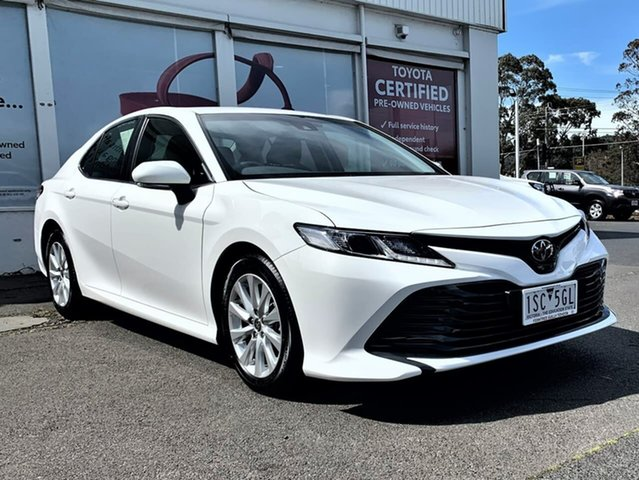 Pre-Owned Toyota Camry ASV70R Ascent Ferntree Gully, 2020 Toyota Camry ASV70R Ascent Glacier White 6 Speed Sports Automatic Sedan