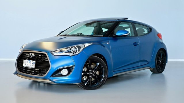 Used Hyundai Veloster FS4 Series II SR Coupe D-CT Turbo Thomastown, 2016 Hyundai Veloster FS4 Series II SR Coupe D-CT Turbo Blue 7 Speed Sports Automatic Dual Clutch