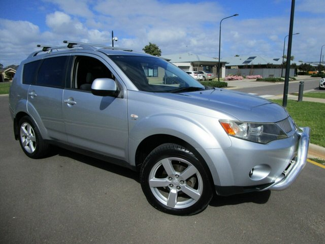 Used Mitsubishi Outlander ZG MY08 LS (7 Seat) Glenelg, 2007 Mitsubishi Outlander ZG MY08 LS (7 Seat) Silver 6 Speed CVT Auto Sequential Wagon