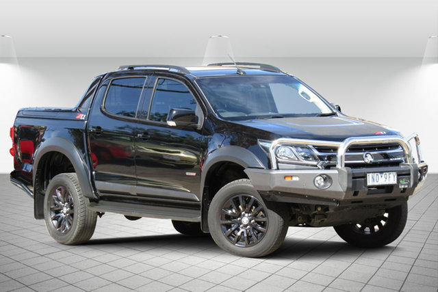 Used Holden Colorado RG MY18 Z71 (4x4) Oakleigh South, 2018 Holden Colorado RG MY18 Z71 (4x4) Agate Black 6 Speed Automatic Crew Cab Pickup
