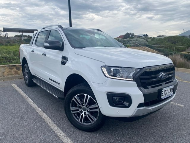 Used Ford Ranger PX MkIII 2020.25MY Wildtrak Christies Beach, 2020 Ford Ranger PX MkIII 2020.25MY Wildtrak White 10 Speed Sports Automatic Double Cab Pick Up