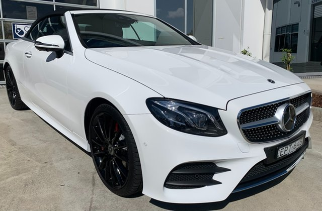 Used Mercedes-Benz E-Class A238 E300 9G-Tronic PLUS Newcastle West, 2017 Mercedes-Benz E-Class A238 E300 9G-Tronic PLUS Polar White 9 Speed Sports Automatic Cabriolet