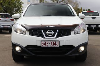 2011 Nissan Dualis J10 Series II MY2010 Ti Hatch X-tronic White 6 Speed Constant Variable Hatchback