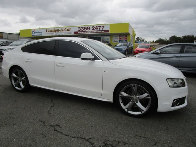 Used Audi A5 8T MY10 Sportback S Tronic Quattro Kedron, 2010 Audi A5 8T MY10 Sportback S Tronic Quattro White 7 Speed Sports Automatic Dual Clutch Hatchback