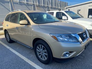 2013 Nissan Pathfinder R52 MY14 ST X-tronic 2WD Gold 1 Speed Constant Variable Wagon.