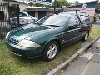 2001 Ford Falcon AUII XLS Green 4 Speed Automatic Utility.