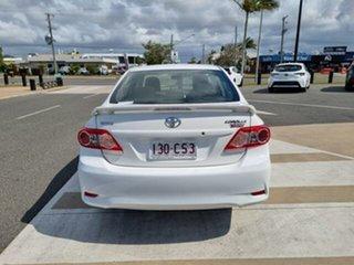 2012 Toyota Corolla ZRE152R MY11 Ascent Sport Glacier White 6 Speed Manual Sedan.