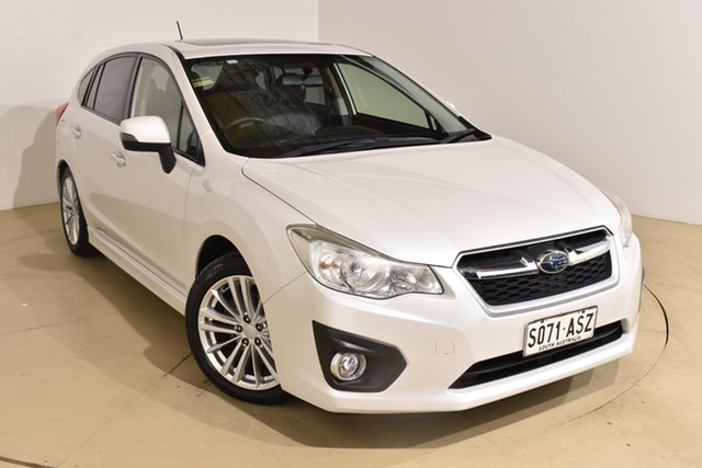 Used Subaru Impreza G4 MY12 2.0i-S Lineartronic AWD Nailsworth, 2012 Subaru Impreza G4 MY12 2.0i-S Lineartronic AWD White 6 Speed Constant Variable Hatchback