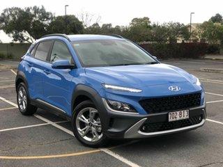 2021 Hyundai Kona Os.v4 MY21 Elite 2WD Blue 8 Speed Constant Variable Wagon.