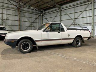 1989 Ford Falcon XF GLS Ute White 3 Speed Automatic Utility.