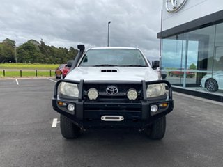 2008 Toyota Hilux KUN26R 08 Upgrade SR (4x4) Glacier White 5 Speed Manual Dual Cab Chassis
