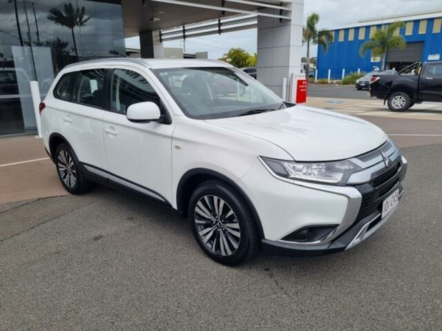 Pre-Owned Mitsubishi Outlander ZL MY19 ES 7 Seat (AWD) Gladstone, 2019 Mitsubishi Outlander ZL MY19 ES 7 Seat (AWD) White Continuous Variable Wagon