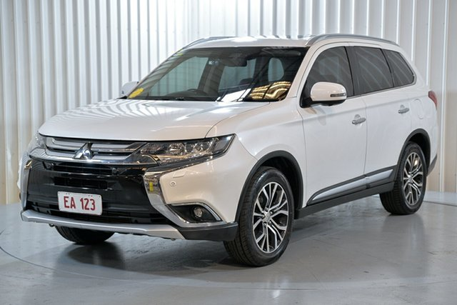 Used Mitsubishi Outlander ZK MY16 Exceed 4WD Hendra, 2016 Mitsubishi Outlander ZK MY16 Exceed 4WD White 6 Speed Sports Automatic Wagon