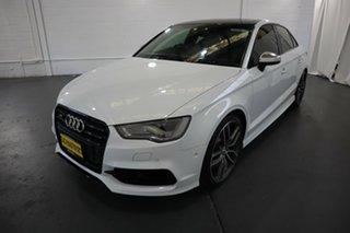 2014 Audi S3 8V MY15 S Tronic Quattro White 6 Speed Sports Automatic Dual Clutch Sedan