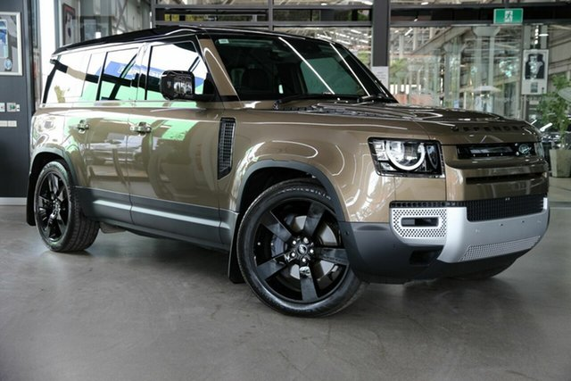 Used Land Rover Defender L663 21MY S North Melbourne, 2021 Land Rover Defender L663 21MY S Gold 8 Speed Sports Automatic Wagon