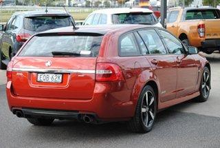 2016 Holden Commodore VF II MY16 SV6 Sportwagon Black Orange 6 Speed Sports Automatic Wagon.