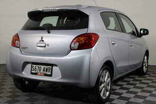 2013 Mitsubishi Mirage LA MY14 LS Cool Silver 1 Speed Constant Variable Hatchback.