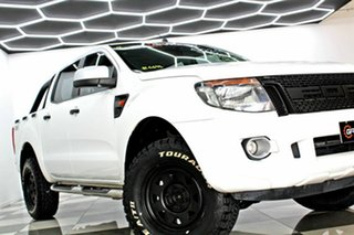 2015 Ford Ranger PX XLS 2.2 (4x4) White 6 Speed Automatic Crew Cab Utility.