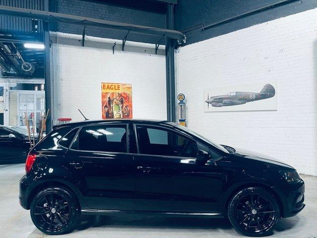 Used Volkswagen Polo 6R MY16 66TSI Trendline Port Melbourne, 2015 Volkswagen Polo 6R MY16 66TSI Trendline Black 5 Speed Manual Hatchback