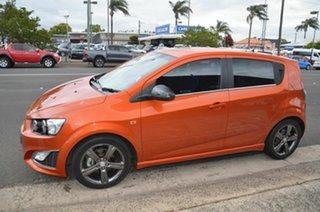2013 Holden Barina TM MY14 RS Orange 6 Speed Automatic Hatchback.