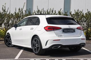 2021 Mercedes-Benz A-Class W177 801+051MY A180 DCT Polar White 7 Speed Sports Automatic Dual Clutch.
