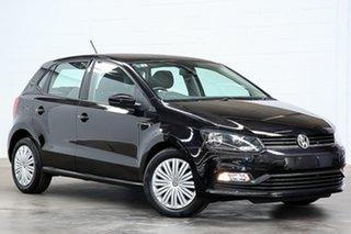 2016 Volkswagen Polo 6R MY16 66TSI DSG Trendline Black 7 Speed Sports Automatic Dual Clutch.
