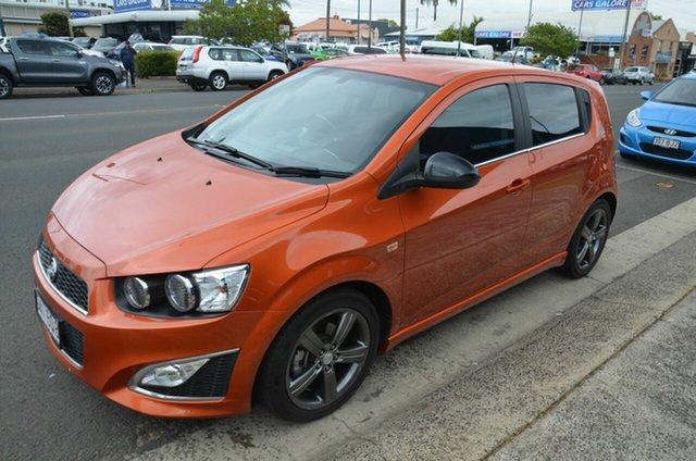 Used Holden Barina TM MY14 RS Toowoomba, 2013 Holden Barina TM MY14 RS Orange 6 Speed Automatic Hatchback