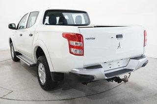 2017 Mitsubishi Triton MQ MY17 GLX+ Double Cab White 6 Speed Manual Utility.