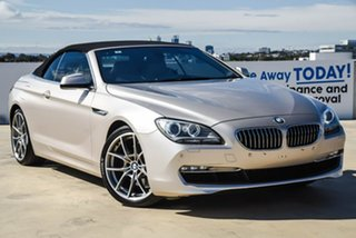 2012 BMW 6 Series F12 MY0911 640i Steptronic Silver, Chrome 8 Speed Sports Automatic Convertible.