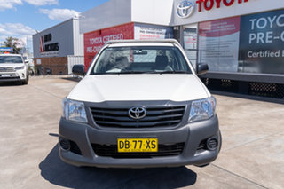 2012 Toyota Hilux TGN16R MY12 Workmate 4x2 Glacier White 4 Speed Automatic Cab Chassis