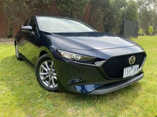 2020 Mazda 3 BP G20 Pure Blue 6 Speed Automatic Hatchback.