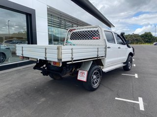2008 Toyota Hilux KUN26R 08 Upgrade SR (4x4) Glacier White 5 Speed Manual Dual Cab Chassis.