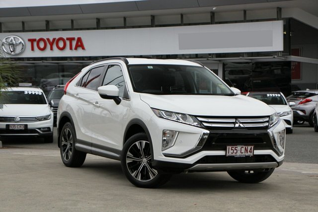 Pre-Owned Mitsubishi Eclipse Cross YA MY19 ES 2WD North Lakes, 2019 Mitsubishi Eclipse Cross YA MY19 ES 2WD White 8 Speed Constant Variable Wagon