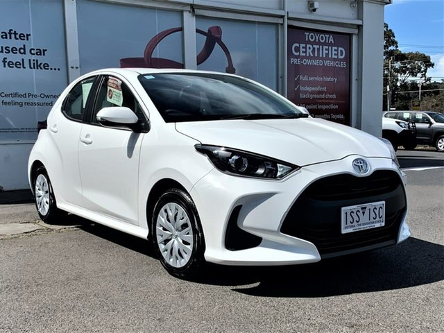 Pre-Owned Toyota Yaris Mxpa10R Ascent Sport Ferntree Gully, 2020 Toyota Yaris Mxpa10R Ascent Sport Glacier White 1 Speed Constant Variable Hatchback