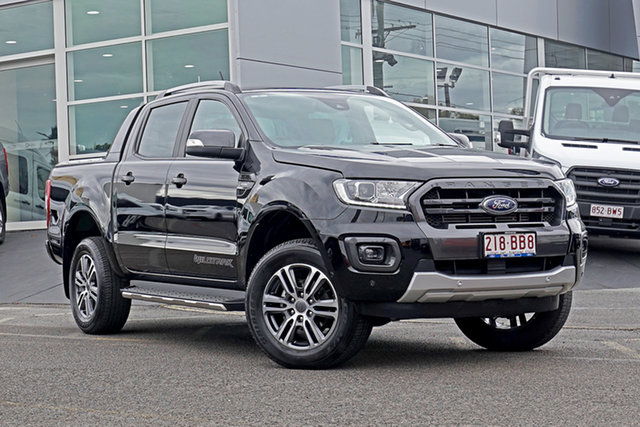 Used Ford Ranger PX MkIII 2021.25MY Wildtrak Springwood, 2021 Ford Ranger PX MkIII 2021.25MY Wildtrak Black 10 Speed Sports Automatic Double Cab Pick Up