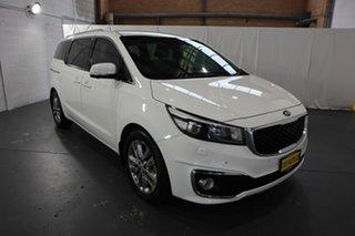 2016 Kia Carnival YP MY17 Platinum White 6 Speed Sports Automatic Wagon.