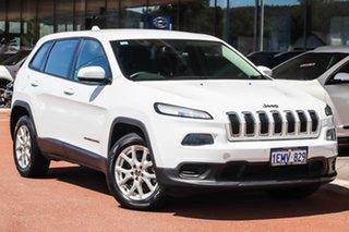 2014 Jeep Cherokee KL Sport White 9 Speed Sports Automatic Wagon.