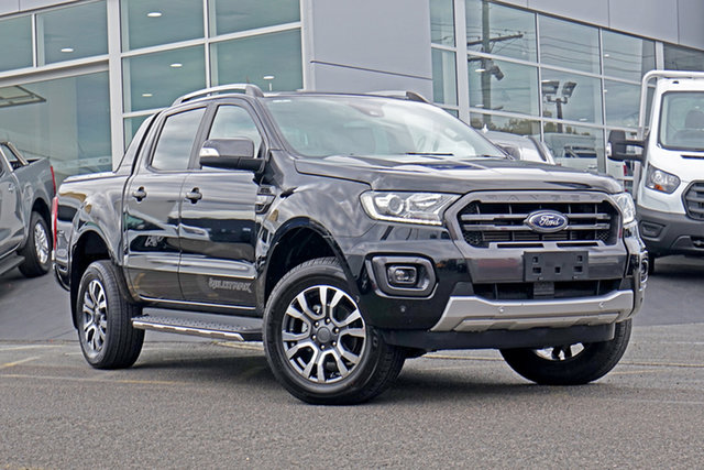 Used Ford Ranger PX MkIII 2019.00MY Wildtrak Springwood, 2019 Ford Ranger PX MkIII 2019.00MY Wildtrak Black 6 Speed Sports Automatic Double Cab Pick Up