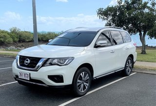 2017 Nissan Pathfinder R52 Series II MY17 ST Hybrid (2WD) White Automatic Wagon.