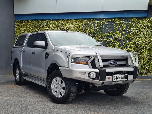 Used Ford Ranger PX MkII XLS Double Cab St Marys, 2017 Ford Ranger PX MkII XLS Double Cab Silver 6 Speed Manual Utility